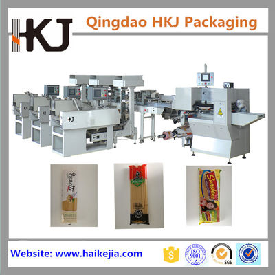 China Long Pasta Automatic Weighing And Bagging Machine With 3 Lines High Speed supplier