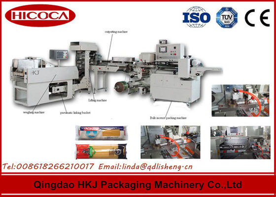 China 0.8~3.0mm Width Spaghetti Packaging Machine Pillow Plastic Bag Packing Type supplier