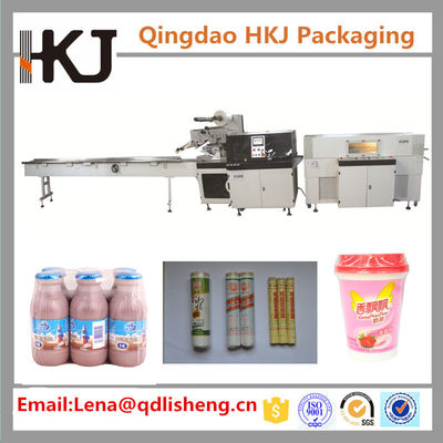 China Reciprocating Shrink Film Packaging Machine , Biscuit Wrapping Machine 100 Bags / Min supplier