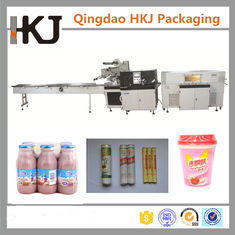 China 220V 22KW Automatic Shrink Wrap Machine / Snacks Packing Machine 7250*1190*1650mm supplier