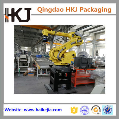 China Full Automatic Box Palletizing Robot For Cartons / Bags Stacking With Pallet Dispenser factory