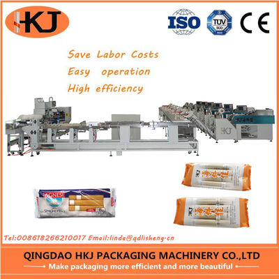 China Rice Noodles Pillow Bag Packaging Machine With 6 Lines (BJWD450/120 NHPA-VI) distributor