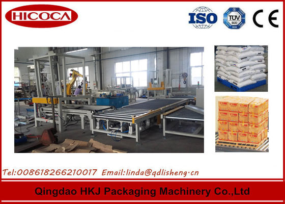 China Automatic Spaghetti Box Palletizing Robot Three Servo Motor Control AC220V factory