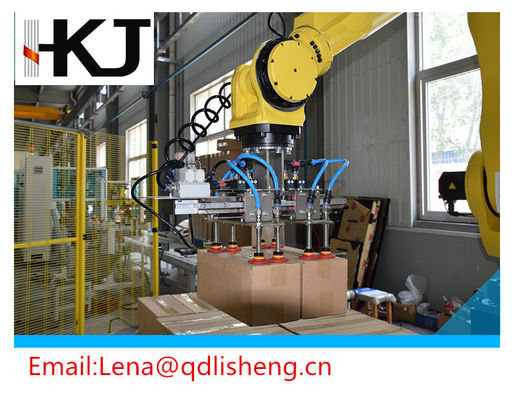 China High Strength Pallet Stacking Robot , Palletising Robot With PLC Touch Screen factory