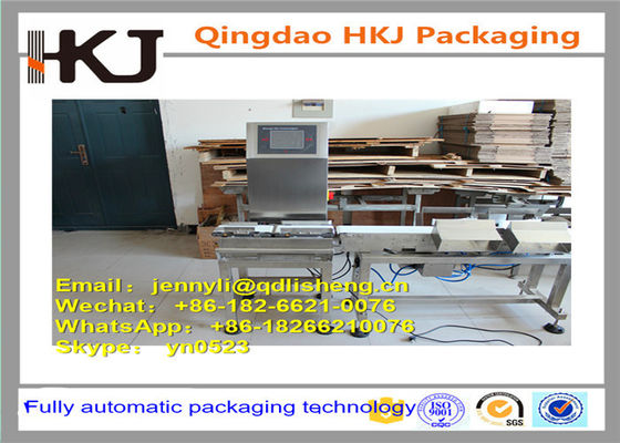 China High Speed Check Weigher Machine 304 Stainless Steel Body Material Easy Operate distributor