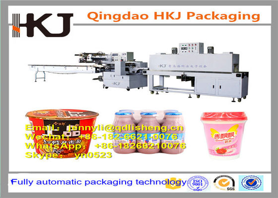 China Full Automatic Instant Noodle Packaging Machine With Wrapping And Shrinking Function distributor