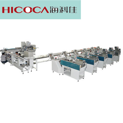 China Horizontal Pillow Type Noodles Packing Machine For Weighting Outputting Filling factory