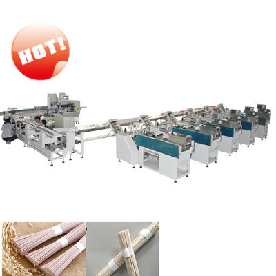 China Omron PLC Noodle Packaging Machine / Bundle Packing Machine 25-35 Bags/Min factory