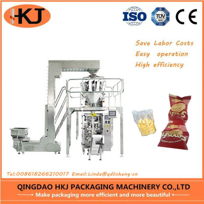 High Accuracy Vertical Snack Food Packaging Machine For Puffed Food