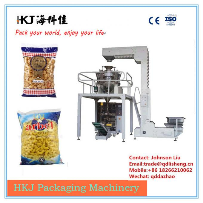 Horizontal Noodle Packaging Machine For Macaroni Packaging Long Operating Life